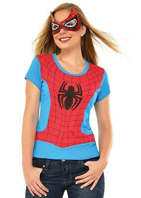 sk Marvel Superhero Fancy Dress Up Halloween Adult Costume (Spider-girl Mask)