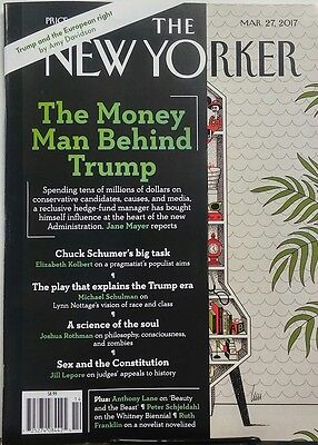 The New Yorker March 27 2017 The Money Man Behind Donald Trump FREE SHIPPING sb