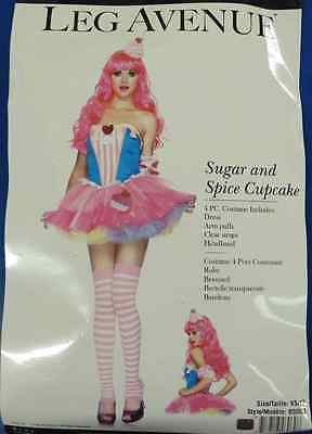 Sugar Spice Cupcake Chef Baker Food Fancy Dress Up Halloween Sexy Adult Costume