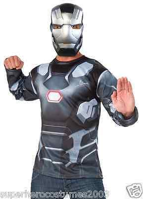 Captain America Civil War War Machine Costume Marvel Comics Rubies 810916 NEW  (Warmachine Costume)