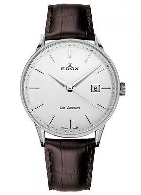 NEW Edox Les Vauberts Men's Quartz Watch 70172-3A-AIN