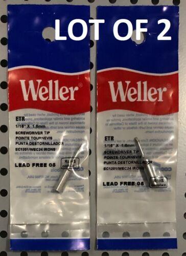 WELLER Original ETR Soldering Iron Tip - LOT OF 2