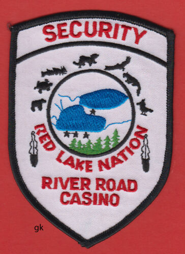RED LAKE NATION MINNESOTA  RIVER ROAD CASINO SECURITY  POLICE SHOULDER PATCH