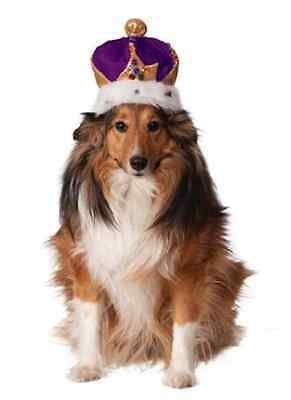 Mardi Gras Crown King Queen Dress Up Halloween Pet Dog Cat Costume Accessory