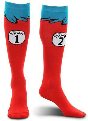 Thing 1 2 Socks Dr. Seuss Cat Hat Fancy Dress Halloween Child Costume Accessory - Thing 1 Costume Baby