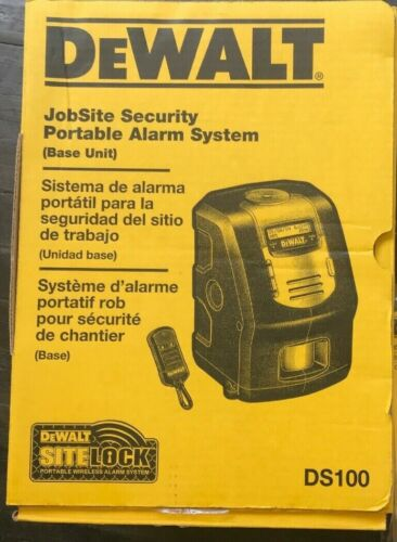 DEWALT Jobsite Security Alarm System DS100 - NEW IN BOX