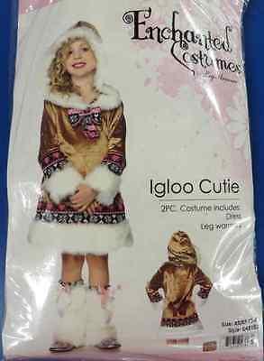 Igloo Cutie Eskimo Girl Winter Tundra Brown Fancy Dress Halloween Child Costume