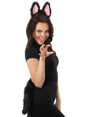 Moving Wings Costume (Moving Cat Tail Black Kitty Animal Fancy Dress Up Halloween Costume)