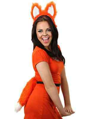 Moving Wings Costume (Moving Fox Tail Orange Animal Fancy Dress Up Halloween Adult Costume)