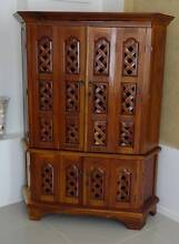 2 matching Teak Corner Cabinets Eatons Hill Pine Rivers Area Preview