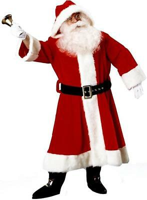 Old Time Santa Claus Suit Christmas Holiday Fancy Dress Halloween Adult Costume - Old Time Costumes