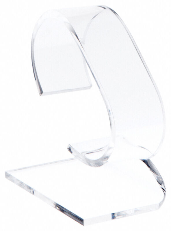 """Plymor Clear Acrylic Watch Display Stand, 1.75"""" W x 3"""" D x 3.75"""" H"""