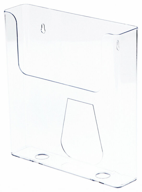 Plymor Clear Acrylic Paper / Catalog Literature Holder (Wall Mount)