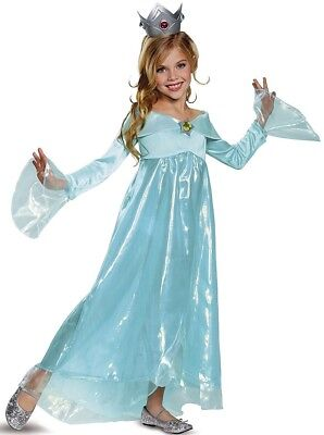 Rosalina Deluxe Nintendo Super Mario Blue Fancy Dress Halloween Child Costume](Rosalina Halloween Costume)