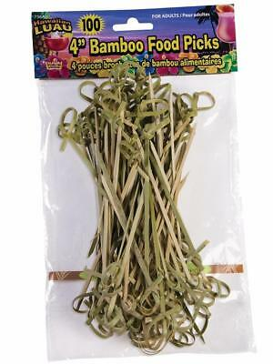 Pool Party Food (Bamboo Tropical Luau Summer Beach Pool Theme Party Favor 100 ct. Food)