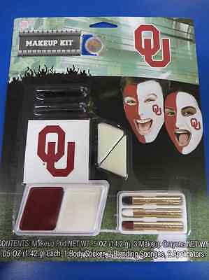 Oklahoma Sooners Makeup Kit NCAA Football College Game Day Costume Accessory](Football Halloween Makeup)
