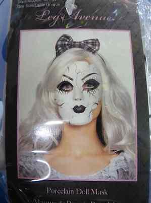 Porcelain Doll Mask Crack Broken Gothic Scary Halloween Adult Costume - Broken Doll Mask