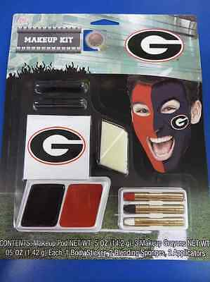 Georgia Bulldogs Makeup Kit NCAA Football College Game Day Costume Accessory - College Football Costumes