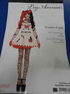 Voodoo Cutie Doll Zombie Scary Fancy Dress Up Halloween Sexy Adult Costume