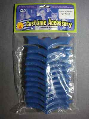 Batman Brave & Bold Blue Batarangs Toy Party Favor Halloween Costume Accessory