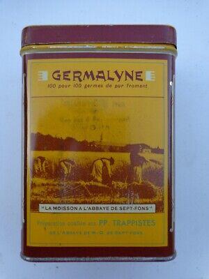 Vintage boite GERMALYNE germe de froment tole,café,bistrot,,original,déco loft