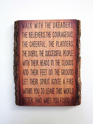WILFERD PETERSON Wood Sign - Inspirational Quote on Natural Edge Wood Plaque