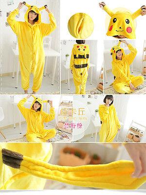Pokemon Adult Kids Pajamas Pikachu bodysuit Unisex Kigurumi Family Sleepwear