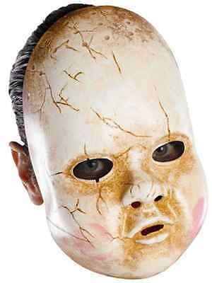 Baby Doll Face Mask Plastic Scary Fancy Dress Up Halloween Costume Accessory - Scary Doll Faces Halloween
