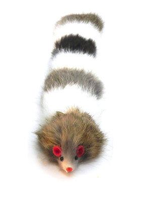 Dat Darn Raccoon Tail Rabbit Fur Cat Toy