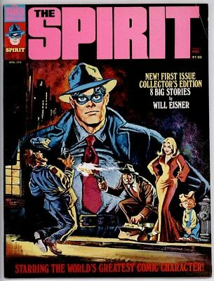 THE SPIRIT MAGAZINE #1 VF- 7.5 WILL EISNER ART 8-PAGE COLOR - Spirit Coloring Pages