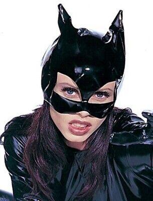 Katzenmaske Cat Lack Wetlook Schwarz Kostüm Katzen Maske Maskenball Woman
