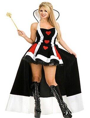 Damen Kostüm Prinzessin Queen of Hearts Königin Gr. S 34-36 Fasching Karneval