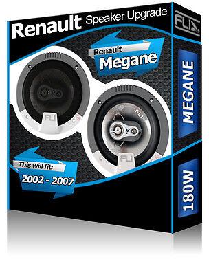Renault Megane Puerta Delantera Altavoces FLI 13.3cm 13cm Kit de para Coche...