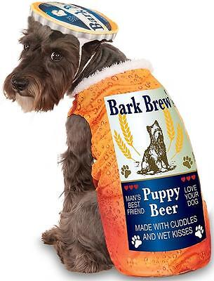 Bark Brew Beer Bottle Cute Funny Fancy Dress Up Halloween Pet Dog Cat Costume - Beer Dog Halloween Costume