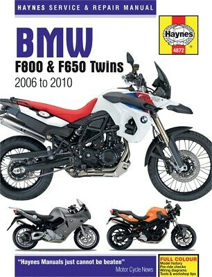 Haynes M4872 Service & Repair Manual for 2006-16 BMW F650, F700 & F800 Twins
