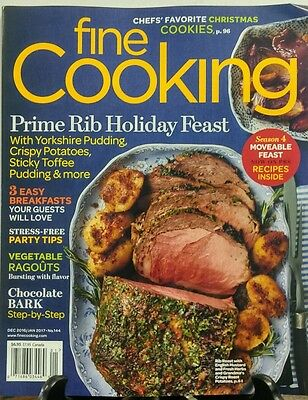 (Fine Cooking Dec 2016 Jan 2017 Prime Rib Holiday Feast Recipes FREE SHIPPING sb)