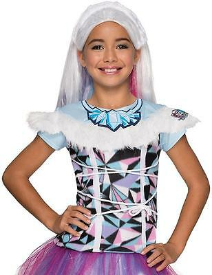 Abbey Bominable Top Monster High Fancy Dress Halloween Child Costume Accessory