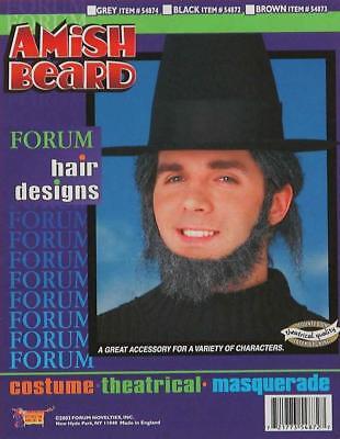 Amish Beard Farmer Fancy Dress Up Halloween Adult Costume Accessory 2 - Amish Halloween Costume