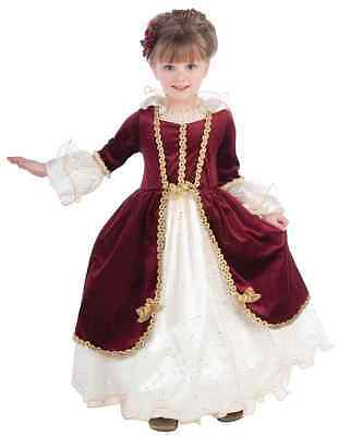 Elegant Lady Renaissance Princess Designer Fancy Dress Halloween Child Costume