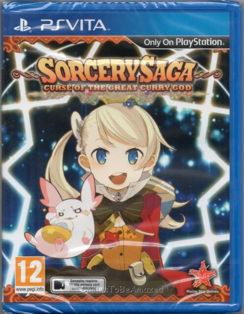 SORCERY SAGA: CURSE OF THE GREAT CURRY GOD GAME PS Vita (JRPG) ~ NEW / SEALED