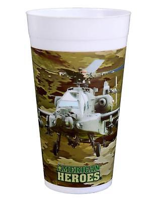 American Heroes Military Soldier Camo Kids Birthday Party 18 oz. Plastic Cups