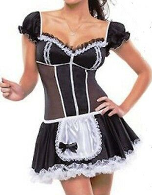 Beautiful French Maid Costume size M L XL 2XL Fast U.S. Shipping Plus Size - French Maid Costumes Plus Size