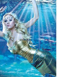 Sexy Adult Sea Mermaid Ocean Fish Costume Cosplay Fancy Dress Uniform C447