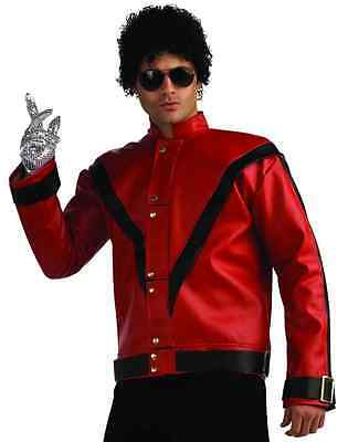 Thriller Jacket Michael Jackson Red Fancy Dress Halloween Deluxe Adult Costume](Thriller Halloween Costumes)