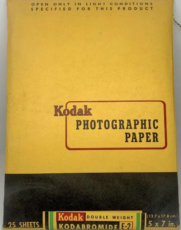 "25 ct Vintage Kodak Kodabromide Photographic Paper/ 5""x7""/Double Weight E-2/NIP!"