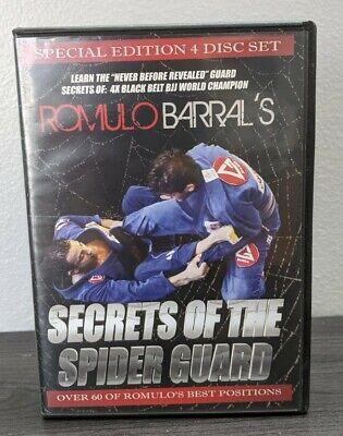 ROMULO BARRAL SECRETS OF THE SPIDER GUARD 4 DVD Training Jiu Jitsu BJJ MMA