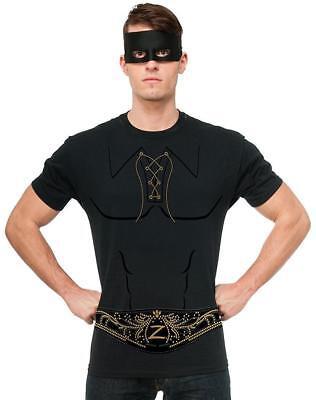 Zorro Shirt Mask Masked Bandit Legend Fancy Dress Up Halloween Adult Costume