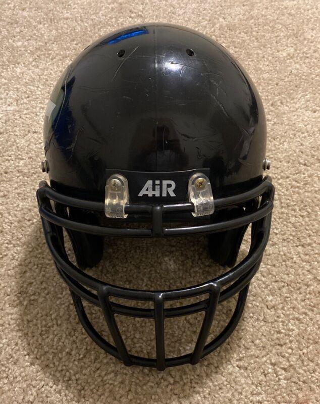 Vtg Bike Air Power Football Helmet W/ Schutt Face Mask 90s Black USA RARE
