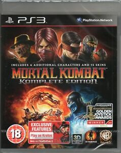 MORTAL KOMBAT 9: KOMPLETE EDITION GAME PS3 (combat complete) ~ NEW / SEALED