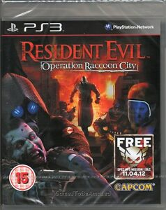 RESIDENT-EVIL-OPERATION-RACCOON-CITY-GAME-PS3-racoon-NEW-SEALED